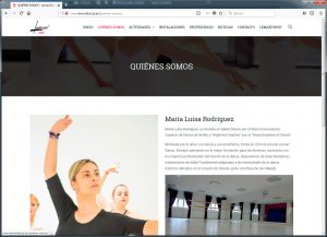 Lemari Danza, web corporativa y folletos promocionales. Crearia Marketing