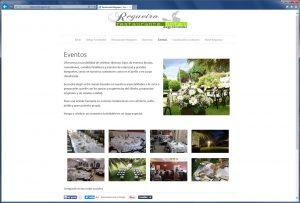 Restaurante Regueiro. Diseño página web